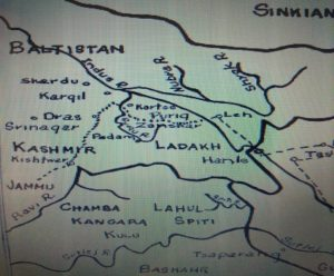 Umasi-La track often used in the past by Dogra Gen. Zorawar Singh in his Gilgit Baltistan expedition.